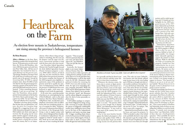 Article Preview: Heartbreak on the Farm, May 1999 | Maclean's