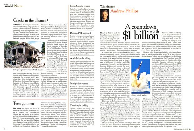 Article Preview: A countdown worth $1 billion, May 1999 | Maclean's