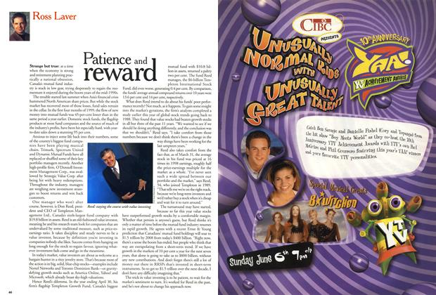Article Preview: Patience and reward, May 1999 | Maclean's
