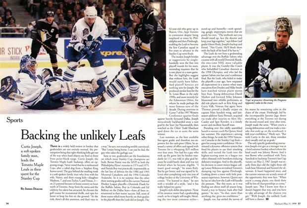 Article Preview: Backing the unlikely Leafs, May 1999 | Maclean's
