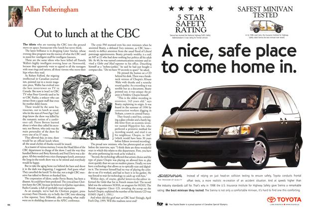 Article Preview: Out to lunch at the CBC, May 1999 | Maclean's
