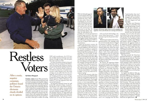 Article Preview: Restless Voters, June 1999 | Maclean's