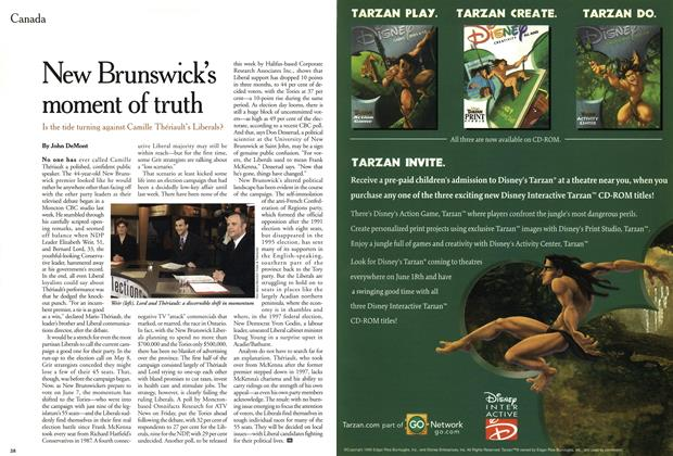 Article Preview: New Brunswick's moment of truth, June 1999 | Maclean's