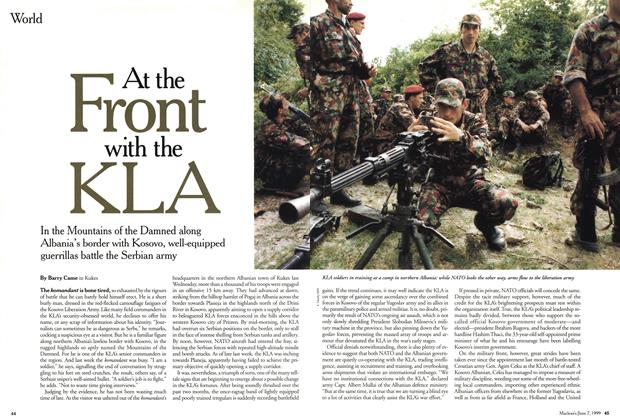 Article Preview: At the Front with the KLA, June 1999 | Maclean's