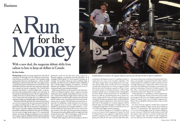 Article Preview: A Run for the Money, June 1999 | Maclean's
