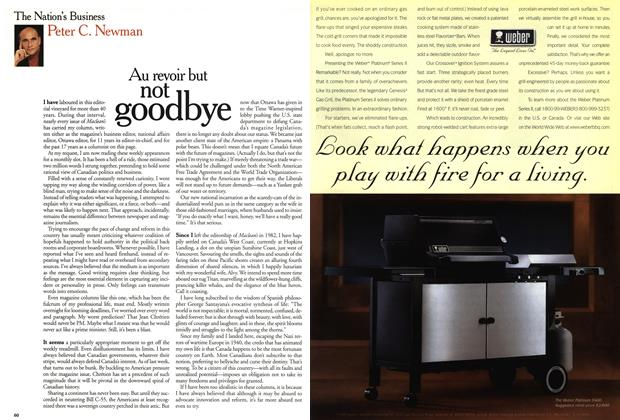 Article Preview: Au revoir but not goodbye, June 1999 | Maclean's