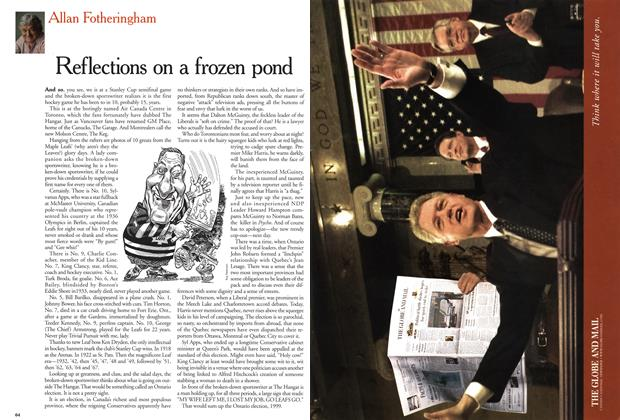 Article Preview: Reflections on a frozen pond, June 1999 | Maclean's