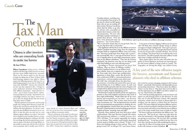 Article Preview: The Tax Man Cometh, June 1999 | Maclean's
