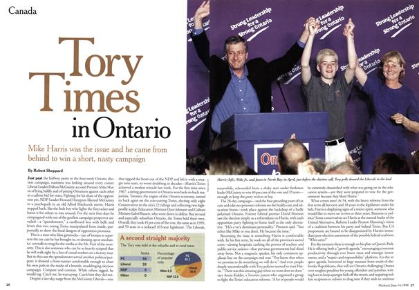 Article Preview: Tory Times in Ontario, June 1999 | Maclean's