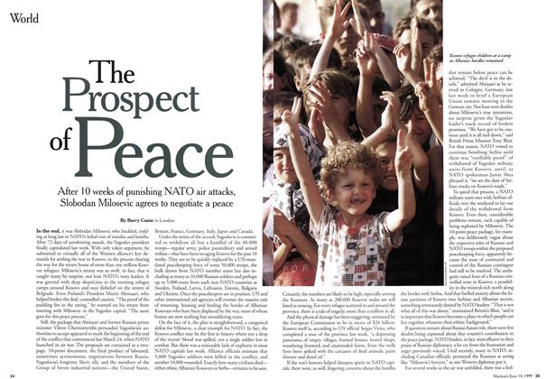 Article Preview: The Prospect of Peace, June 1999 | Maclean's