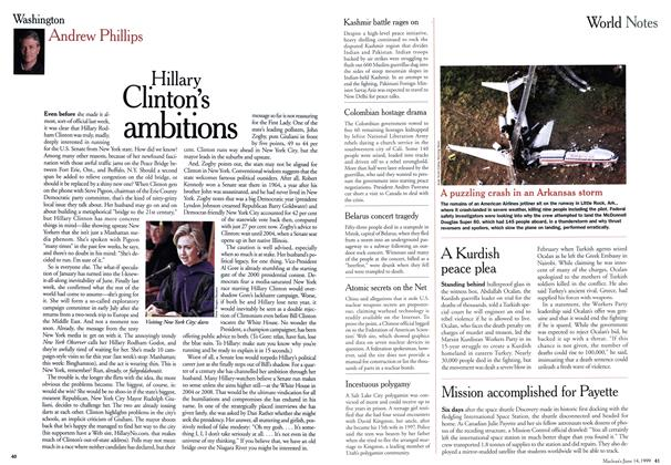 Article Preview: Hillary Clinton's ambitions, June 1999 | Maclean's