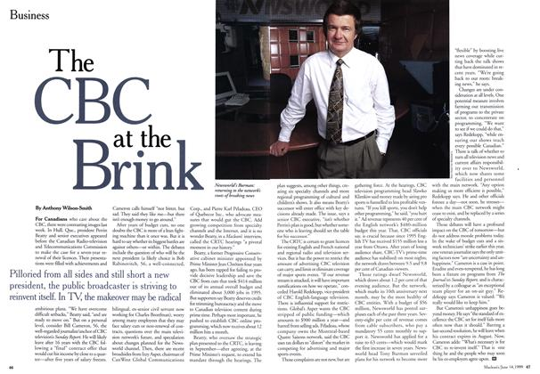Article Preview: The CBC at the Brink, June 1999 | Maclean's