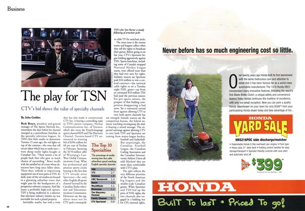 Article Preview: The play for TSN, June 1999 | Maclean's