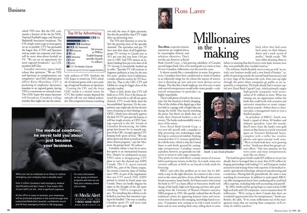 Article Preview: Millionaires in the making, June 1999   Maclean's