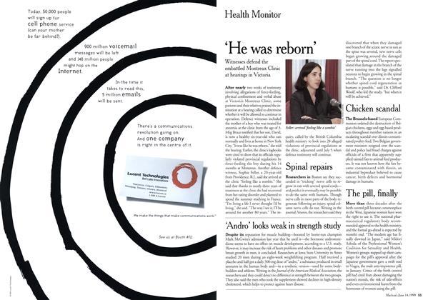 Article Preview: He was reborn, June 1999 | Maclean's