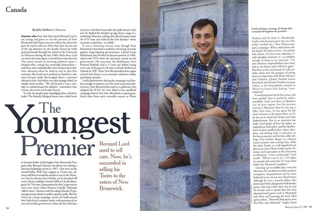 Article Preview: The Youngest Premier, June 1999 | Maclean's