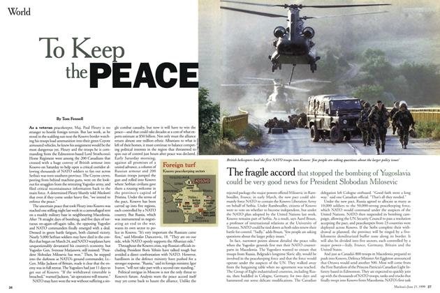 Article Preview: To Keep the, June 1999 | Maclean's