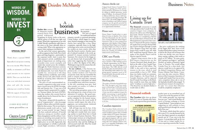Article Preview: Business Notes, June 1999 | Maclean's