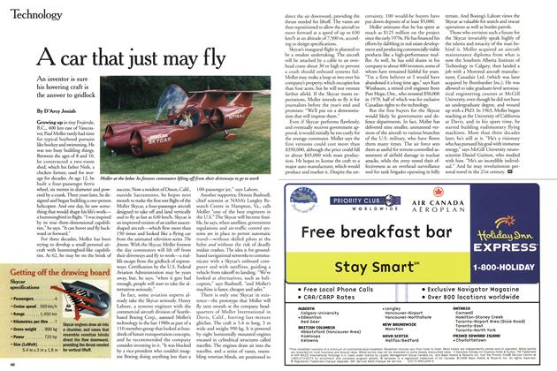 Article Preview: A car that just may fly, June 1999 | Maclean's