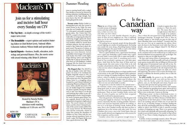Article Preview: In the Ganadian way, June 1999 | Maclean's