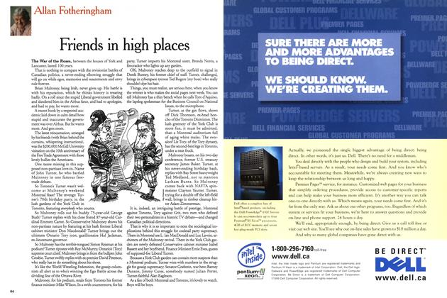 Article Preview: Friends in high places, June 1999 | Maclean's