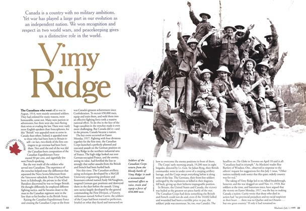Article Preview: Vimy Ridge, July 1999 | Maclean's