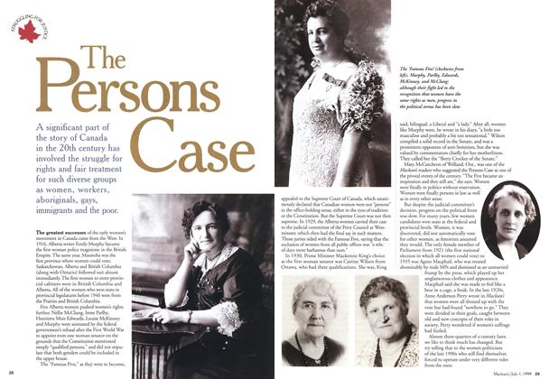 Article Preview: The Persons Case, July 1999 | Maclean's