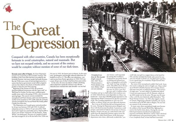Article Preview: The Great Depression, July 1999 | Maclean's