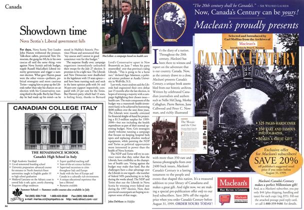 Article Preview: Showdown time, July 1999 | Maclean's