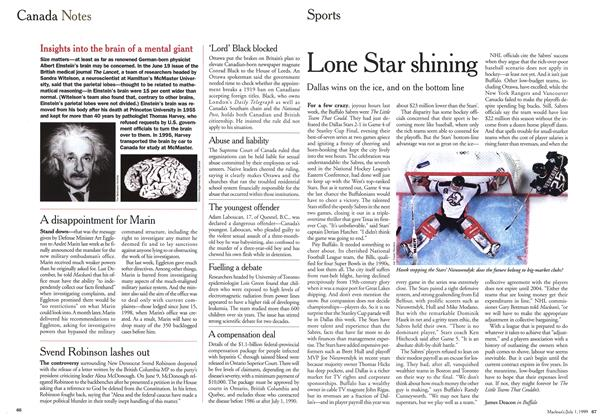 Article Preview: Lone Star shining, July 1999 | Maclean's