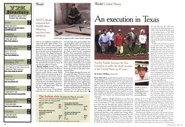 Article Preview: An execution in Texas, July 1999 | Maclean's