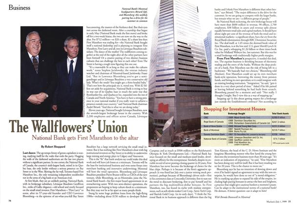 Article Preview: The Wallflowers' Union, July 1999 | Maclean's