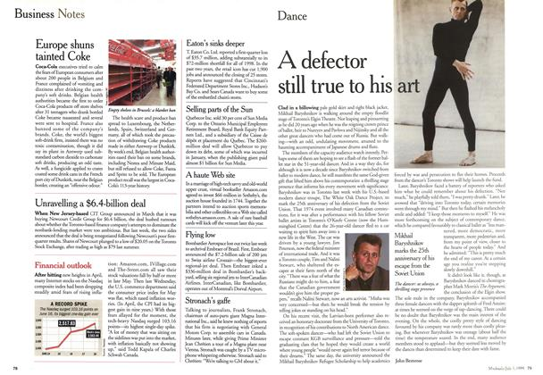 Article Preview: A defector still true to his art, July 1999 | Maclean's