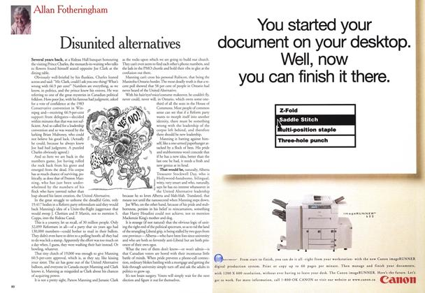 Article Preview: Disunited alternatives, July 1999 | Maclean's