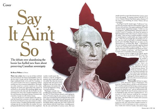 Article Preview: Say It Ain't So, July 1999 | Maclean's