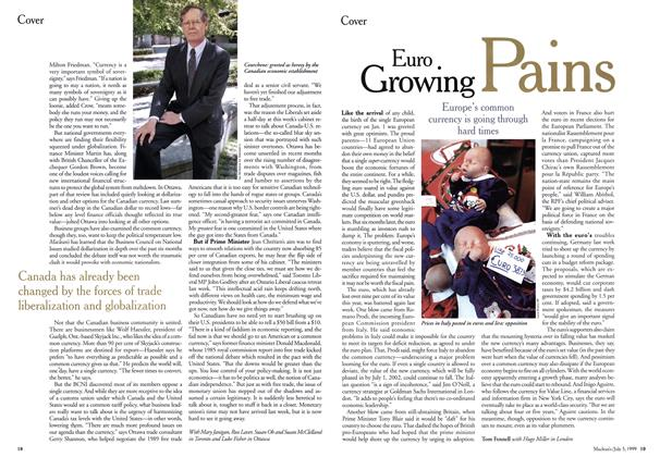 Article Preview: Euro Growing Pains, July 1999 | Maclean's