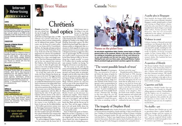 Article Preview: Chrétien's bad optics, July 1999 | Maclean's