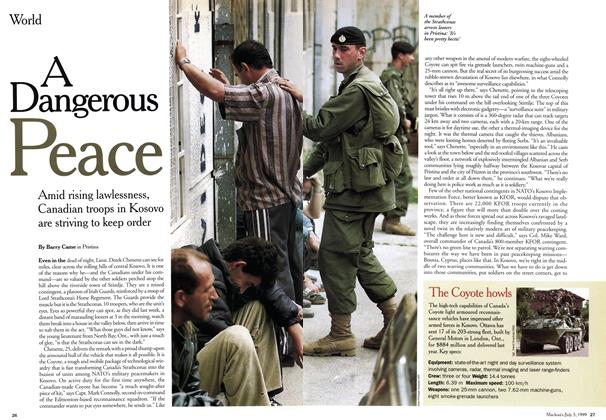 Article Preview: A Dangerous Peace, July 1999 | Maclean's