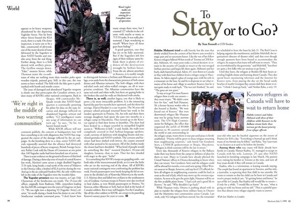 Article Preview: To Stay or to Go?, July 1999 | Maclean's