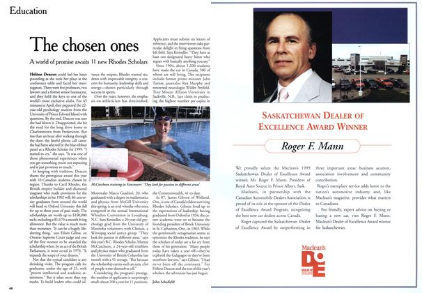 Article Preview: The chosen ones, July 1999 | Maclean's