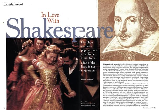 Article Preview: In Love With Shakespeare, July 1999 | Maclean's