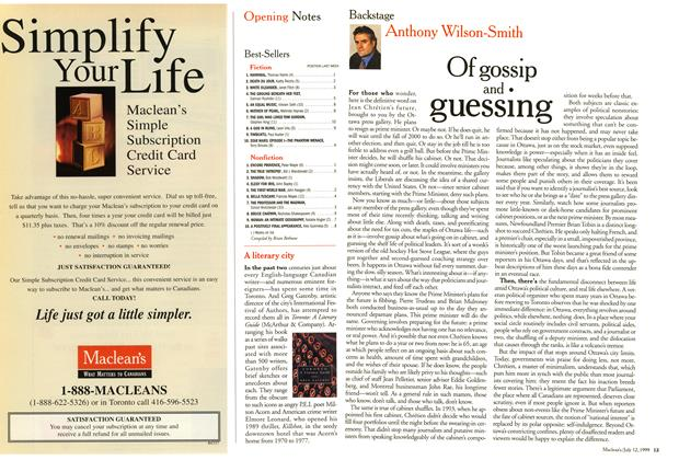 Article Preview: Of gossip and guessing, July 1999 | Maclean's