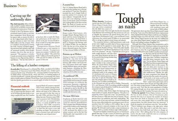 Article Preview: Tough as nails, July 1999 | Maclean's