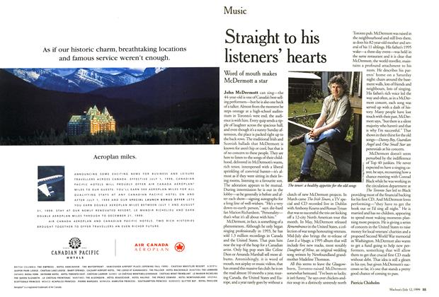 Article Preview: Straight to his listeners' hearts, July 1999 | Maclean's