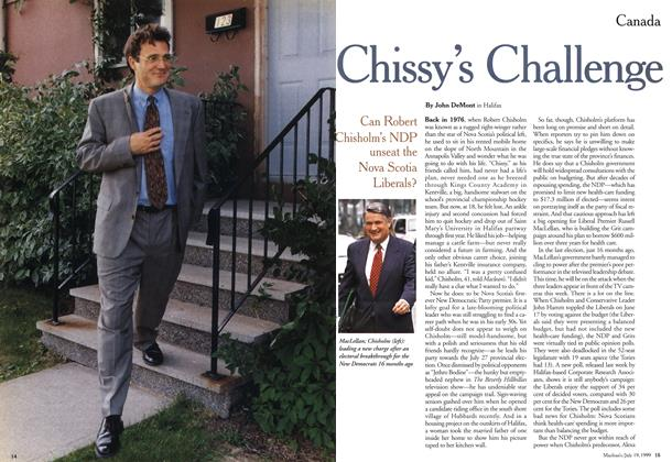 Article Preview: Chissy's Challenge, July 1999 | Maclean's
