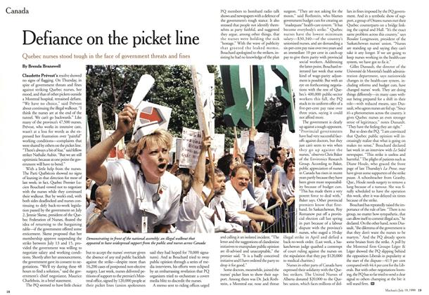 Article Preview: Defiance on the picket line, July 1999 | Maclean's