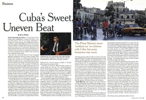 Article Preview: Cuba's Sweet, Uneven Beat, July 1999 | Maclean's