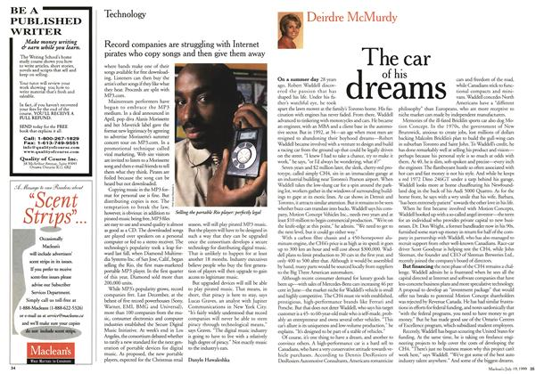 Article Preview: The car of his dreams, July 1999 | Maclean's
