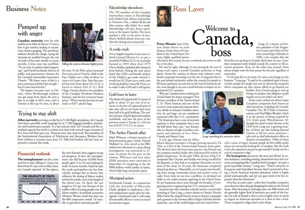 Article Preview: Welcome to Canada, boss, July 1999 | Maclean's