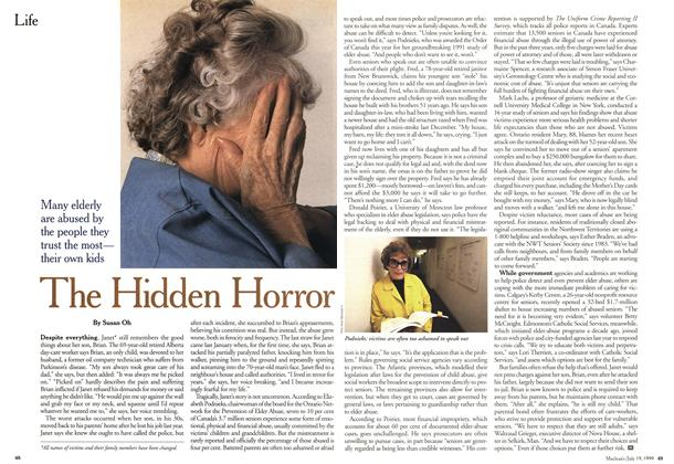 Article Preview: The Hidden Horror, July 1999 | Maclean's